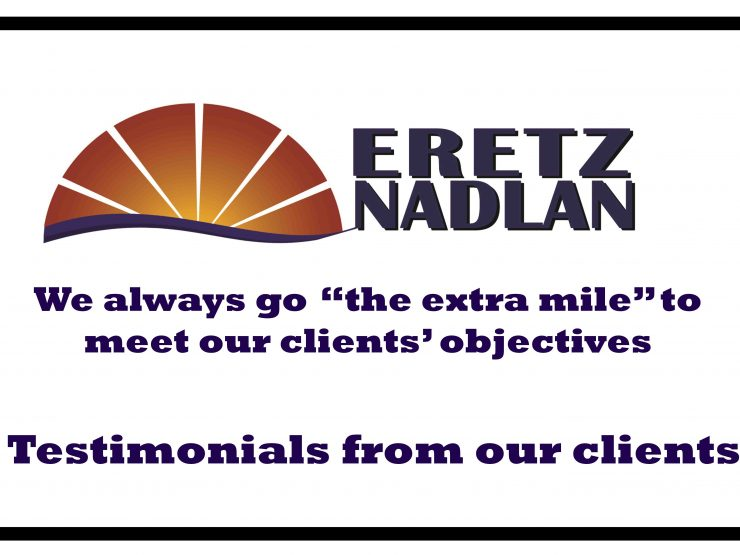 Modiin Real Estate Agency, What Clients Say About Eretznadlan  !